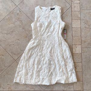 🆕 Tahari ASL Cream Floral Dress